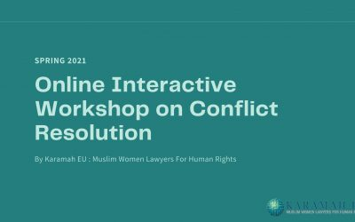 Online Interactive Workshop on Conflict Resolution with Dr Amr Abdalla